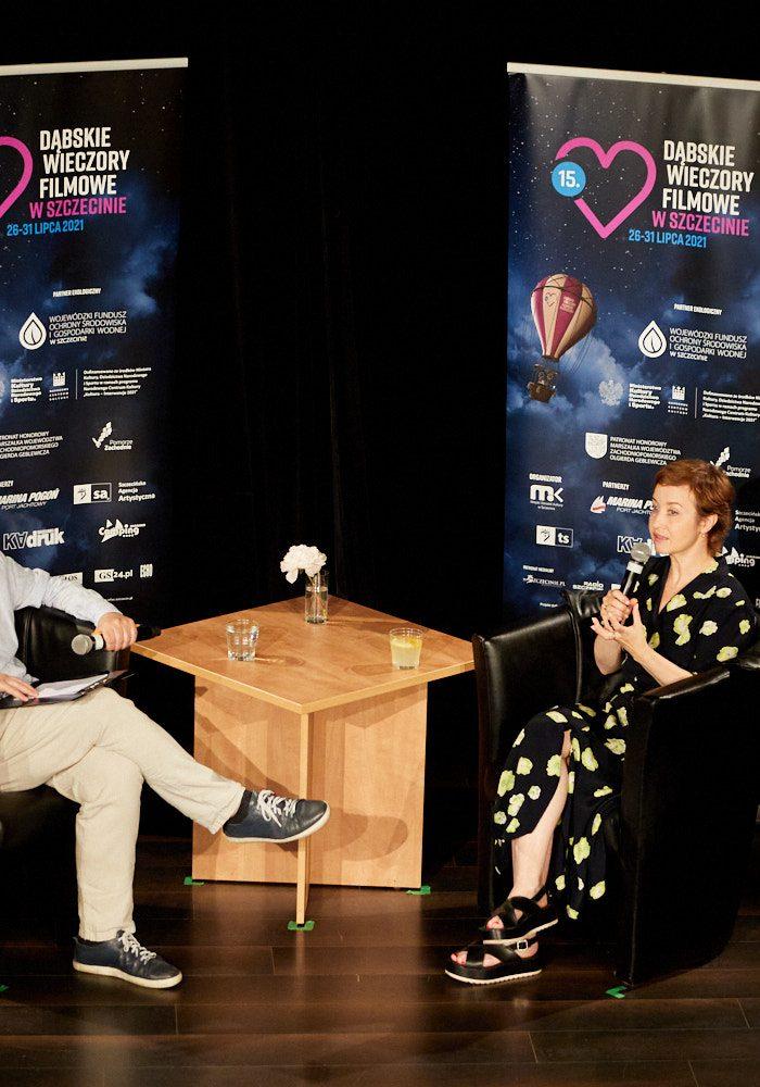 Gabriela Muskała i Krzysztof Spór podczas spotkania w ramach 15. DWF