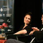 Dorota Landowska, Mariusz Bonaszewski podczas spotkania wramach 15. DWF